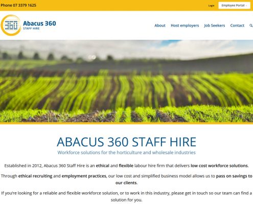 Abacus 360 Staff Hire website