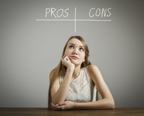 bigstock Pros And Cons Hesitation 57842255