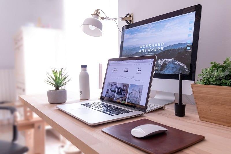 computer and monitor
