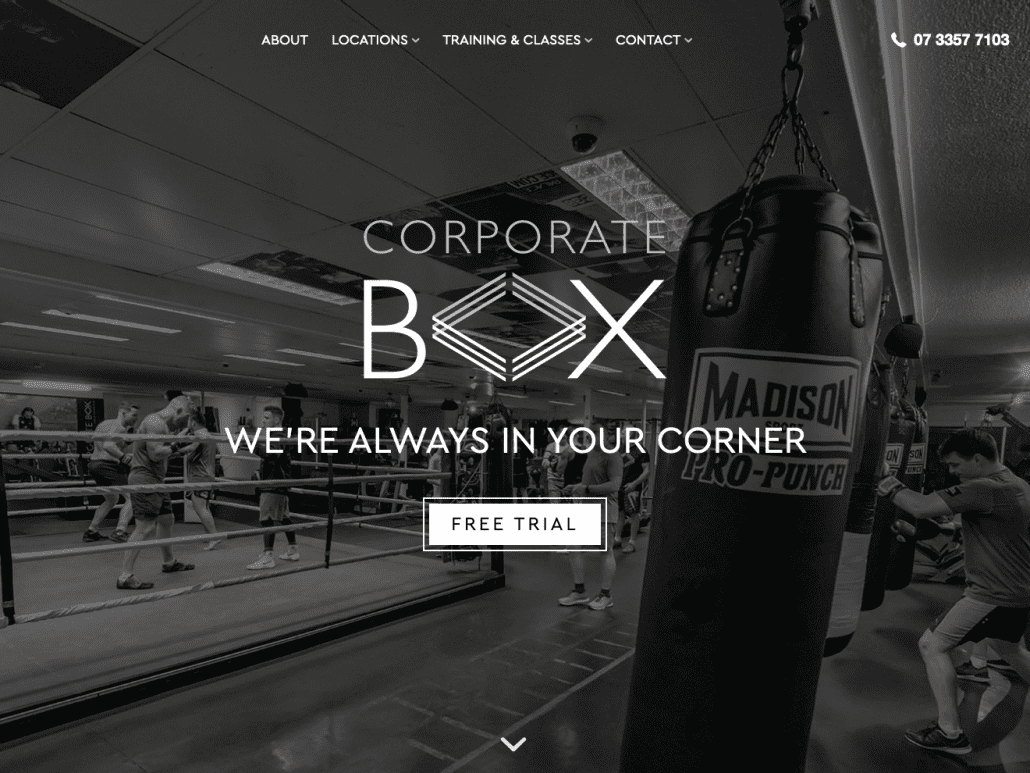 corporateboxgym.com.au desktop