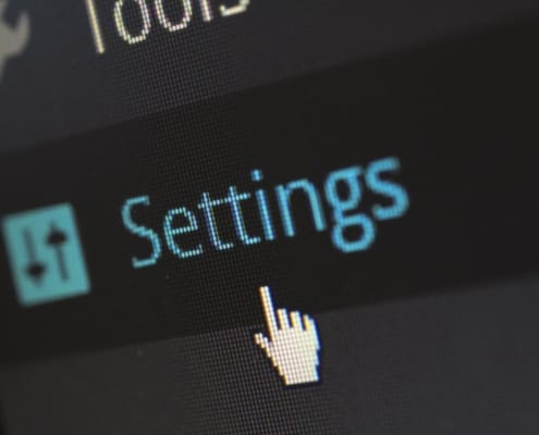 Settings tab on wordpress dashboard